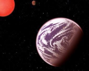 Rappresentazione artistica di KOI 314c (in primo piano) e del secondo pianeta attorno alla loro stella madre. Crediti: C. Pulliam & D. Aguilar (CfA)