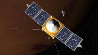 Riproduzione artistica della sonda MAVEN. Crediti: Goddard Space Flight Center/NASA