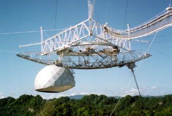 La piattaforma dell'Osservatorio di Arecibo