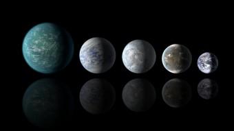 Alcune Super-Terre scoperte dalla Missione Kepler confrontate con il nostro pianeta. Crediti: NASA
