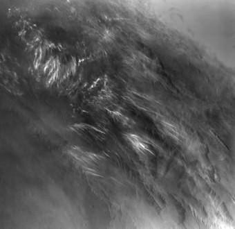 Le prime immagini delle nubi marziane scattate dalla sonda Viking 1. Crediti: NASA