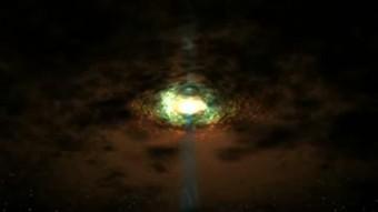 Riproduzione artistica di un nucleo galattico attivo. CREDITI: NASA's Goddard Space Flight Center/Wolfgang Steffen, UNAM
