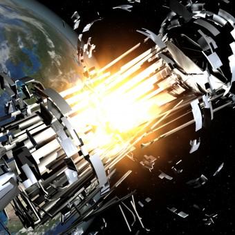 Cosa può succedere se un piccolo frammento colpisce uno strumento in orbita terrestre.