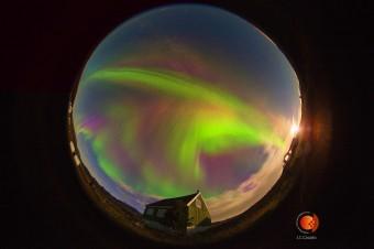 Un'aurora in Groenlandia nell'agosto 2013. Crediti: GLORIA Project