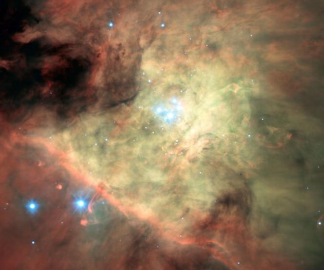 Immagine della nebulosa di Orione ottenuta da MUSE. Crediti: ESO