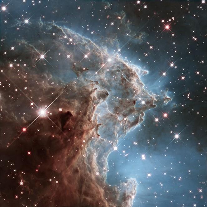 La Nebulosa Testa di Scimmia, nota anche come NGC 2174. Questa sezione è stata scattata con la Wide Field Camera 3. Crediti: NASA, ESA, and the Hubble Heritage Team (STScI/AURA)