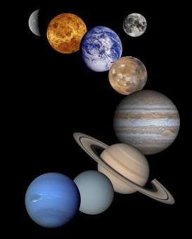 Rappresentazione artistica (non in scala) dei pianeti del Sistema Solare. Crediti: NASA