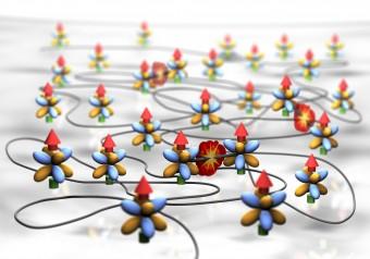 Anche i sistemi più semplici, come atomi neutri, possono esibire un comportamento caotico. Crediti:  Erbium Team, University of Innsbruck