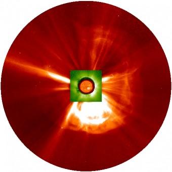 La supertempesta solare del 2012 nasce dall'interazione di due eruzioni in rapida successione.  Crediti: Ying Liu