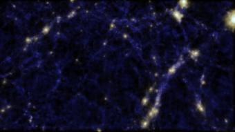 Una simulazione della ragnatela cosmica. Crediti: Cunnama, Power, Newton e Cui (ICRAR).