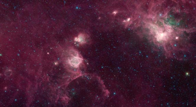 Le nebulose Gum 22 e 25 nella Via Lattea.