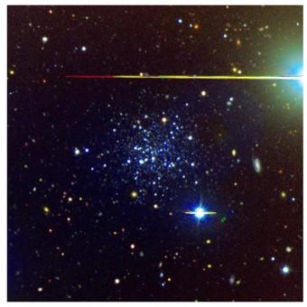 Il gruppo di stelle vicine alla Via Lattea scoperte grazie alle osservazioni del VST. Crediti: Vassily Belokurov et al.