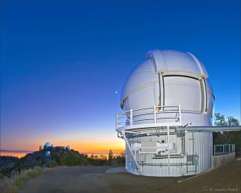 L'Automated Planet Finder è il nuovo telescopio dell'Osservatorio Lick in California, sul monte Hamilton. Crediti: Laurie Hatch