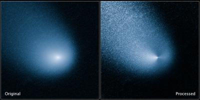 La cometa C/2013 A1 (Siding Spring) fotografata dal telescopio di NASA/ESA Hubble. Crediti: NASA, European Space Agency, and J.-Y. Li (Planetary Science Institute)