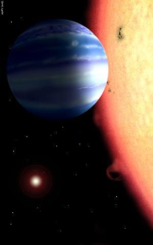 Elaborazione artistica di un Giove caldo che orbita attorno alla sua stella. Crediti: David Aguilar, Harvard-Smithsonian Center for Astrophysics