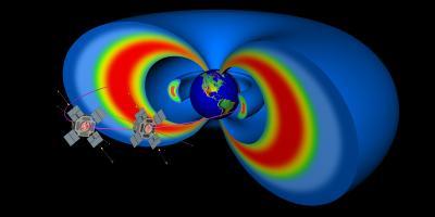Le sonde della NASA Van Allen Van Allen orbitano attraverso due fasce giganti di radiazioni che circondano la Terra. Crediti: John Hopkins University Applied Physics Laboratory/NASA