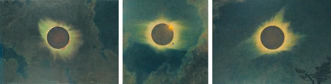 L'eclissi solare nel trittico di Howard Russell Butler. Tre dipinti realizzati rispettivamente nel 1918, nel 1923 e nel 1925 in corrispondenza di tre diversi eventi astronomici. Si tratta della prima opera d'arte a raffigurare correttamente la corona solare.