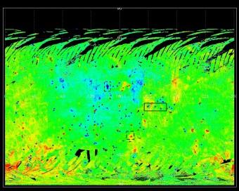 La mappa di albedo di Vesta fotometricamente corretta