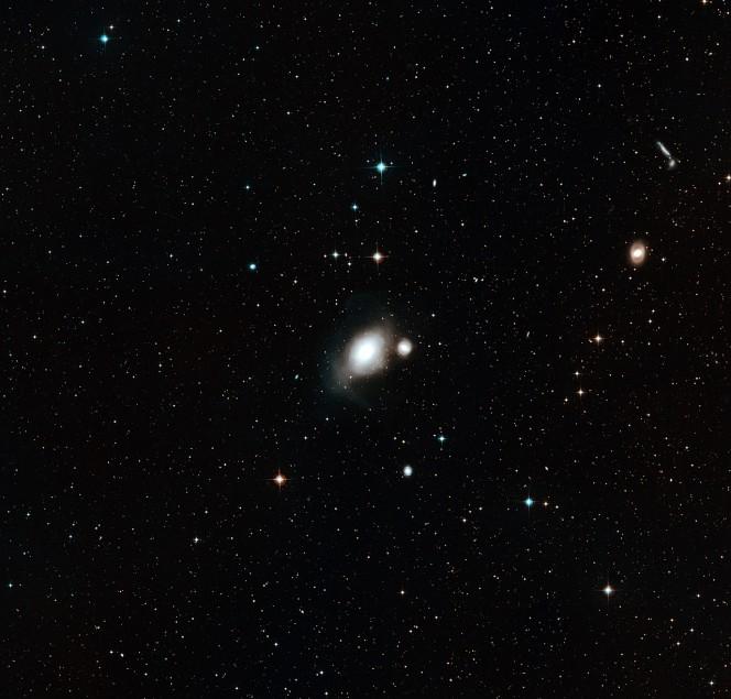 Questa immagine mostra il cielo intorno alla coppia di galassie NGC 1316 e NGC 1317, a partire da immagini della DSS2 (Digitized Sky Survey 2). Crediti: ESO/Digitized Sky Survey 2