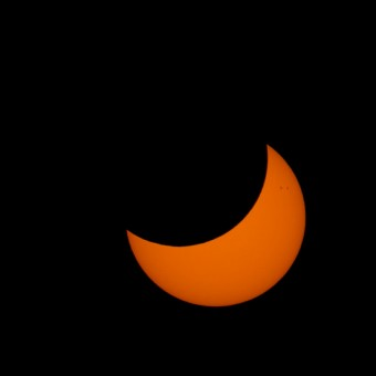 L'eclissi parziale vista da Adelaide, Australia. Crediti: Silveryway.