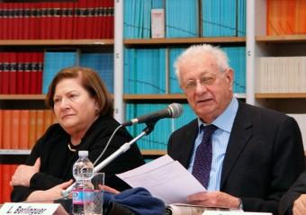 Gli europarlamentari Amalia Sartori e Luigi Berlinguer