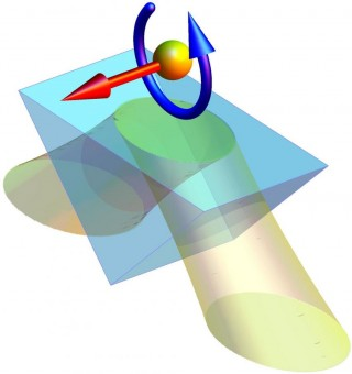 Generazione di un'onda evanescente in un prisma di vetro. Crediti: Konstantin Bliokh, RIKEN Interdisciplinary Theoretical Science Research Group