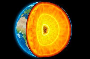 Rappresentazione del nucleo terrestre. Crediti: ANDRZEJ WOJCICKI/CORBIS