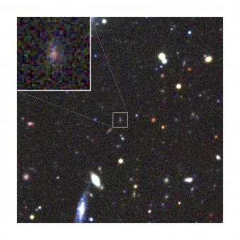 La supernova PS1-10afx. Crediti: Credit: Kavli IPMU/CFHT