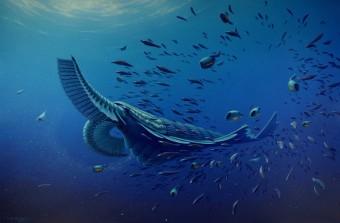 Elaborazione artistica della vita nel periodo Cambriano. Crediti: BOB NICHOLLS/BRISTOL UNIVERSITY