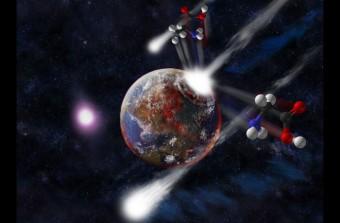Elaborazione artistica della vita proveniente dallo spazio. Crediti: MATTHEW GENGE / IMPERIAL COLLEGE LONDON