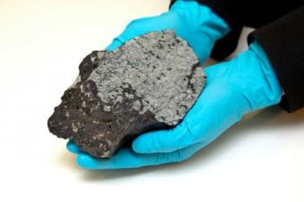 Un frammento di meteorite marziano.
