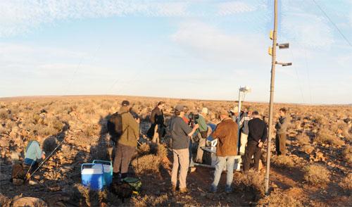 Il sito in Namibia
