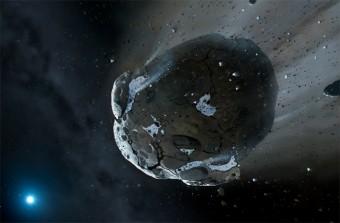 Elaborazione artistica dell'impatto con un meteorite ghiacciato gigante. Crediti: MARK A. GARLICK, SPACE-ART.CO.UK, UNIVERSITY OF WARWICK AND UNIVERSITY OF CAMBRIDGE
