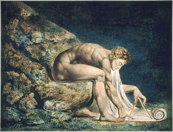 Isaac Newton in un'illustrazione di William Blake. Crediti: Wikimedia Commons