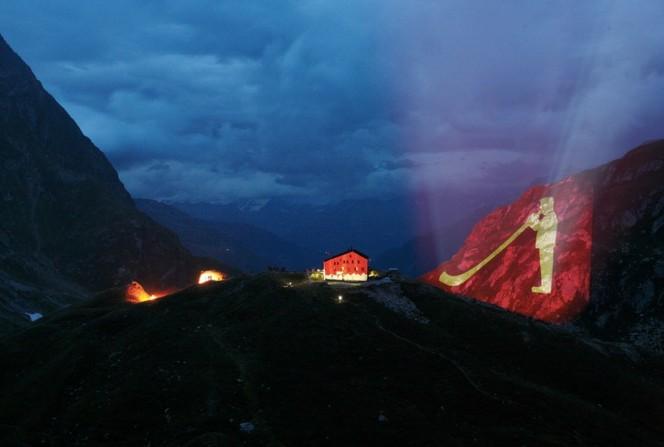 Illuminazione del rifugio Terri nel 2010. Crediti: EMMI & S&F