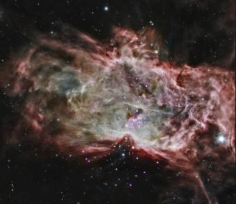 La nebulosa Fiamma e il suo ammasso stellare studiato da Chandra. Crediti: NASA