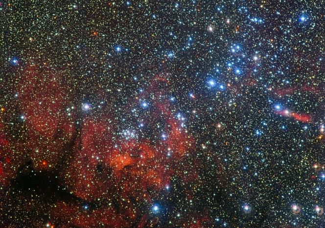 Il colorato ammasso stellare NGC 3590. ESO/G. Beccari