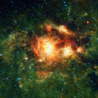 Una nube di gas interstellare probabilmente formata a causa dell'effetto tunnel. Crediti: NASA