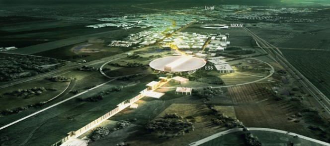La sede dello European Spallation Source. Crediti:  ESS / Team Henning Larsen Architects.