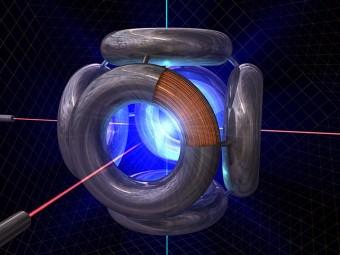 Rappresentazione artistica di un reattore a fusione Polywell