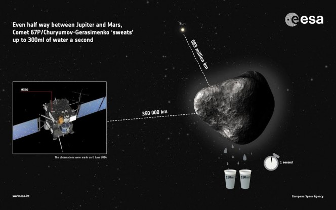 Crediti: ESA Infographic OSIRIS image from 4 June