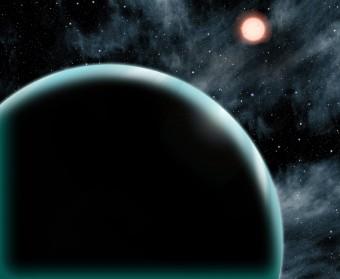 Rappresentazione artistica dell'esopianeta Kepler-421b. Crediti: David A. Aguilar (CfA)