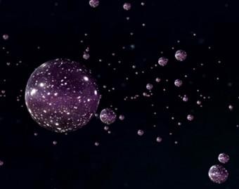 Rappresentazione artistica d'un multiverso con le sue bolle. Crediti: Perimeter Institute