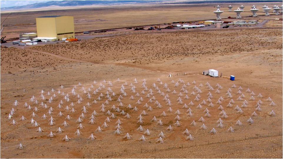 Tutte le 256 antenne della stazione LWA-1 del Long Wavelength Array, nel New Mexico central. Crediti: LWA Project (UNM)