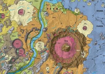 Un dettaglio della nuova mappa. Crediti: USGS