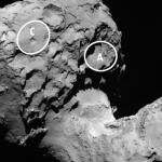 Il lander Philae si appresta a toccare la superficie della cometa 67P. Crediti: ESA/ATG medialab