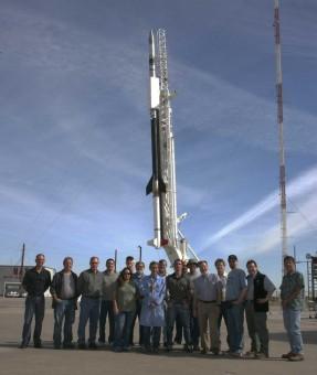 Un'immagine d'archivio della missione EUNIS sulla rampa di lancio. Crediti: U.S. Navy