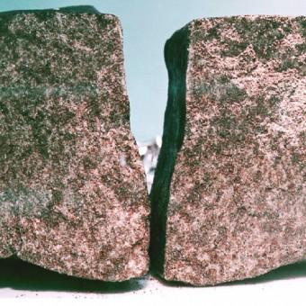 Frammenti del meteorite di Nakhla. Crediti: Wikipedia.