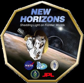Il logo della missione New Horizons verso Plutone