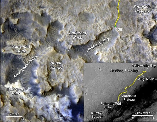 Nella mappa si vede la Hidden Valley. Crediti: NASA/JPL-Caltech/Univ. of Arizona